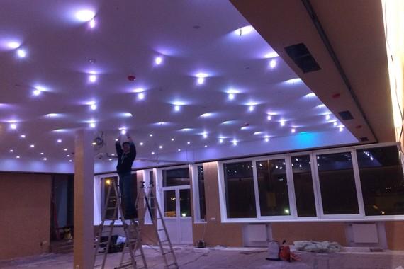 """Установка светодиодного освещения Банкетного зала в ресторане """"Nordic"""""""